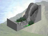 Ablauf eines Bergsturzes (2)