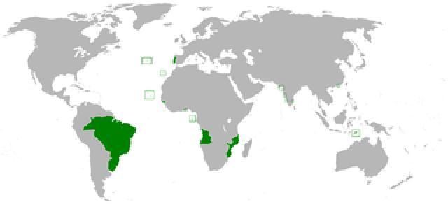 Bild: Ausdehnung des Portugiesischen Reiches im Jahr 1800