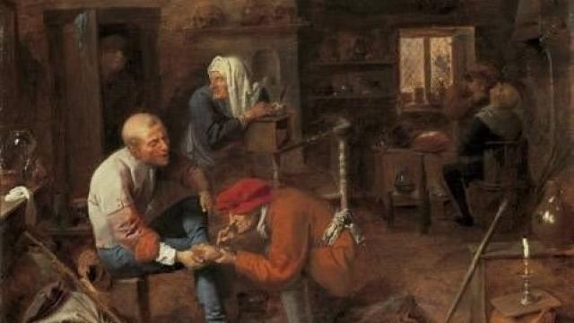 Bild: Adriaen Brouwer (1605-1638) - Dorfbaderstube