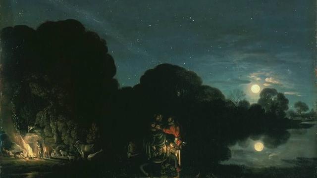 Bild: Adam Elsheimer (1578-1610) - Die Flucht nach Ägypten