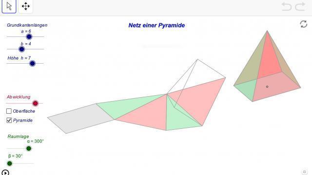 Bild: Abwicklung einer Pyramide